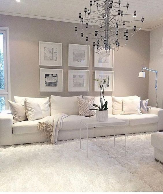 Good Best 25+ White Sofas Ideas On Pinterest | Living Room Decor Grey Walls, Living  Room Chandeliers And Living Room Decor With Grey Walls