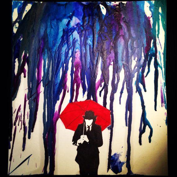 Mayday Parade Umbrella Man Melted Crayon Art by TheArtOfFangirling, $20.00