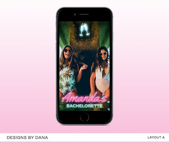 Custom Snapchat Geofilter || Snapchat Filter Personalized for Bachelorette Parties || Bachelorette Party || Neon Lights