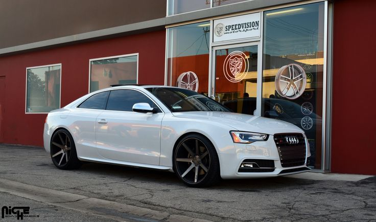 2007 White Audi S5 with Machined Black with Dark Tint