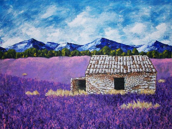 Lavender Farm ORIGINAL DIGITAL DOWNLOAD by Mike by MikeKrausArt