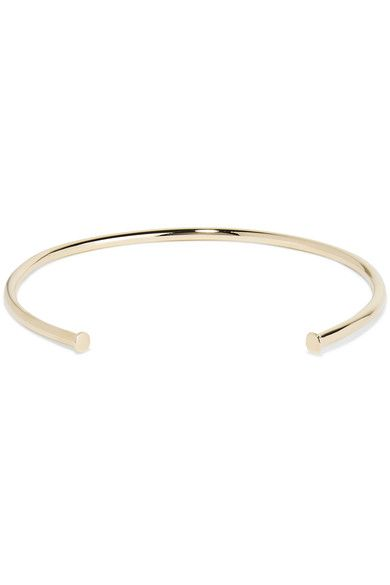 Jennifer Fisher | Single Pipe gold-plated choker | NET-A-PORTER.COM