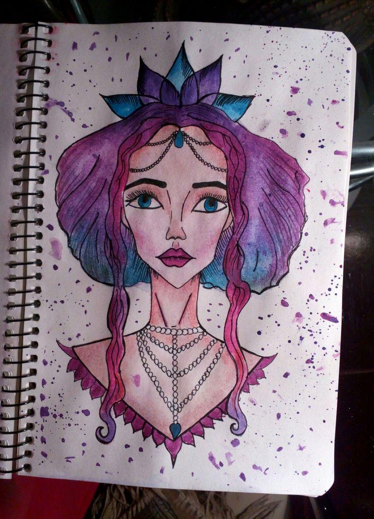 Картинки, фото прикольных рисунков для срисовки в скетчбук девушки