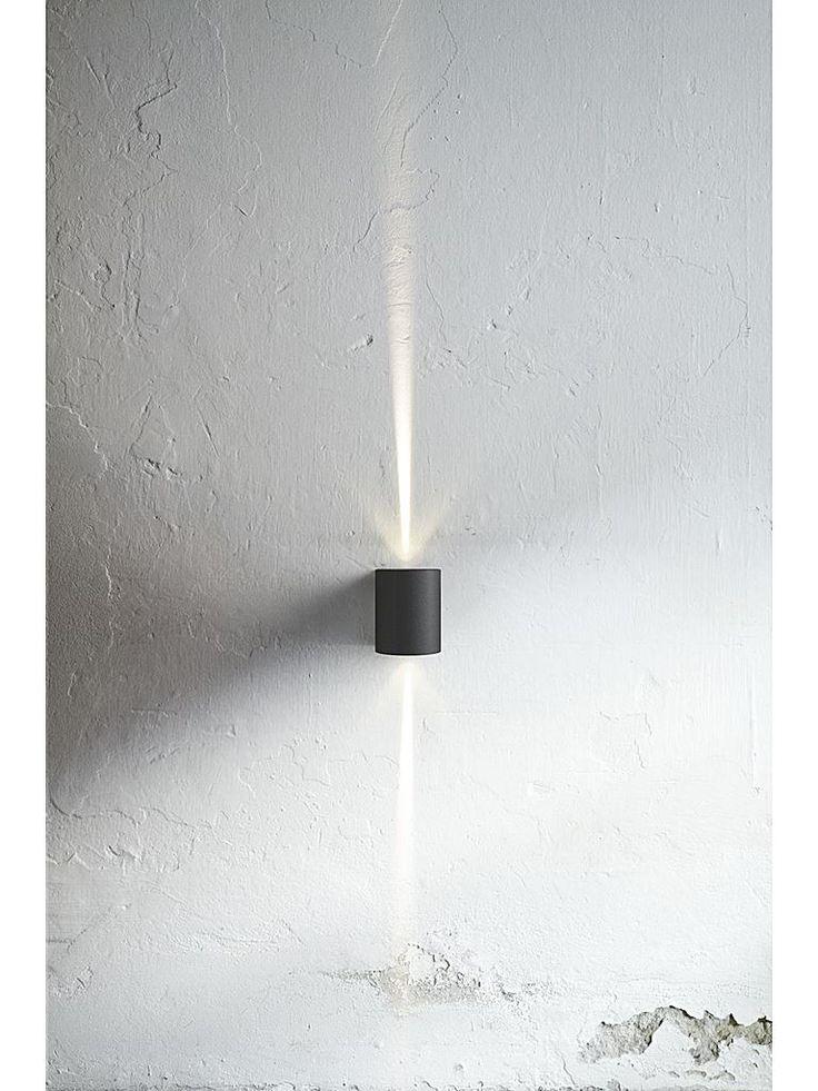 Svart utomhuslampa - Nordlux Canto LED vägglampa