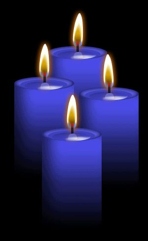 ✯ 4 Blue Candles: Use for Communication, truth, peace, calm, loosing weight, wisdom, understanding, protection, harmony, inspiration, truth, patience, health and happiness, luck, communication, loyalty, peaceful, cooling, contentment, healing, idealism, harmony, devotion, meditation .. By ~Blood-Huntress✯