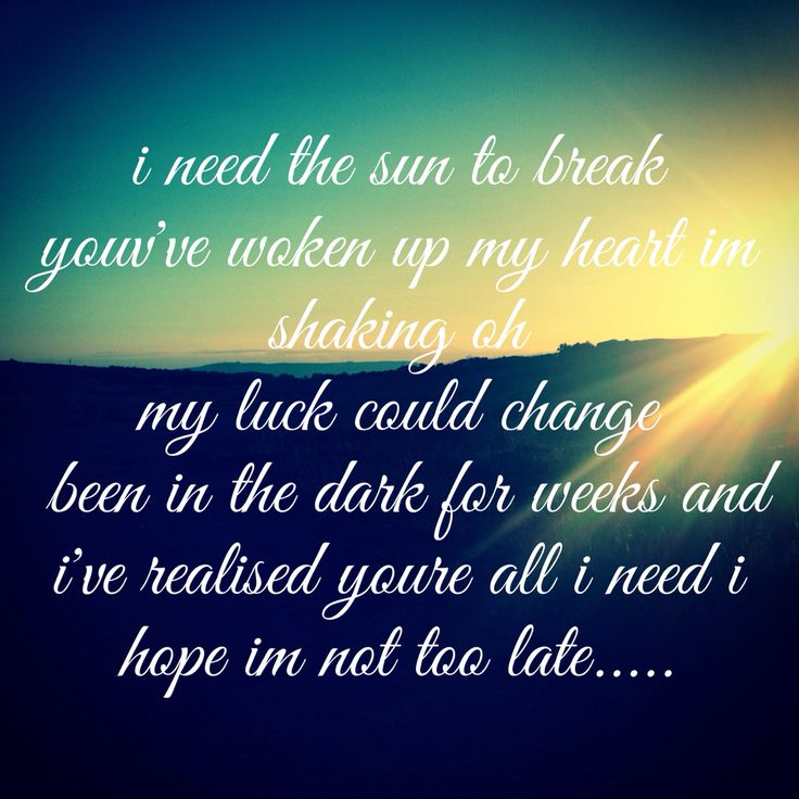"""Need the sun to break"" by James Bay. This guy is one of my favorites☀️"
