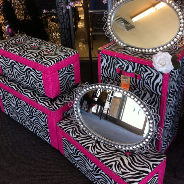 Cute girl zebra stuff for a room i saw this at hobby - Stuff for girls rooms ...