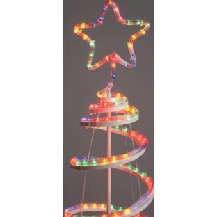 Buy Multicoloured Spiral Christmas Tree with Lights - 4ft at Argos.co.uk - Your Online Shop for Christmas lights.