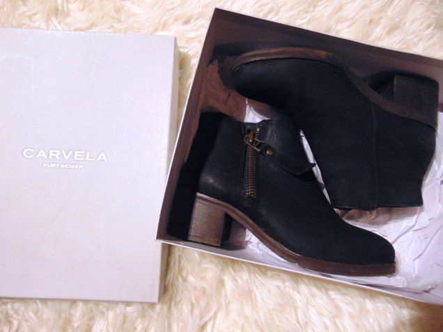 Kurt Geiger Leather Ankle Boots | Winter Carvela Boots