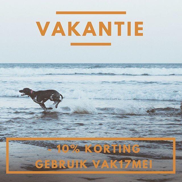 Vind je het niet erg om iets langer te wachten dan normaal? Bestel dan nog snel met de vakantiekorting ;-). #korting #kortingscode #vakantie #dogcopenhagen #EzyDog #aquacoolkeeper #comfycone #tugenuff #thedogcompany #hond #hondentraining #hondenvaninstagram #dutchdogs