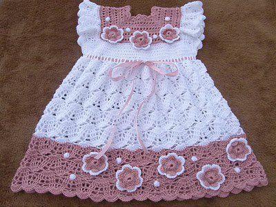 Croche pro Bebe: Vestidinho de Croche