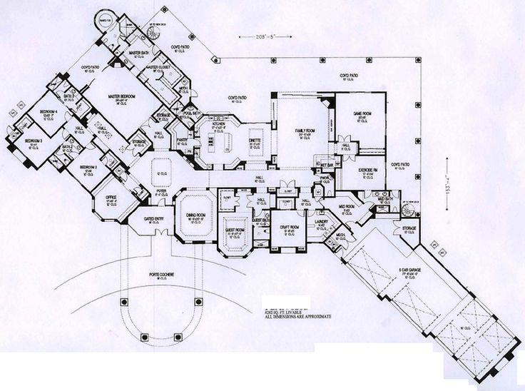 First Floor Plan of Mediterranean   House Plan 54722