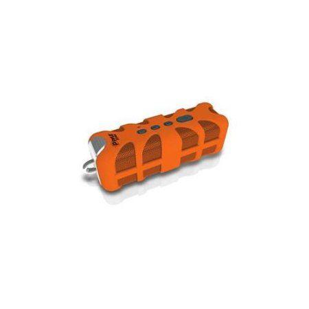 Sound Box Splash Rugged and Splash-Proof BT Marine Grade Portable Cordless Speaker with NFC Pairing and AUX Input in Orange
