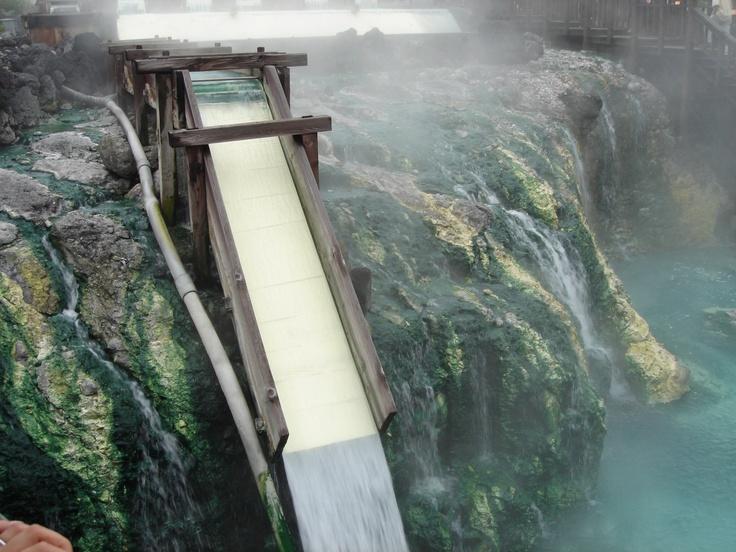 """""""YUBATAKE"""",hot spring source at KUSATSU hot spring,Gunma pref,JAPAN."""