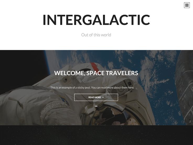 WordPress › Intergalactic « Free WordPress Themes