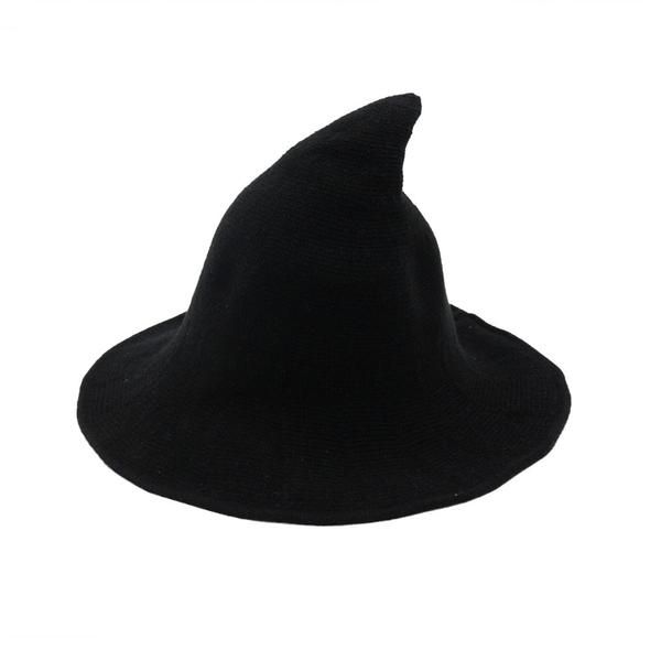 Charming Witchy Wool Hat Fall Witch Hat Pointed Woolen Hat Witchy Outfit Cute Hats Witch Hat