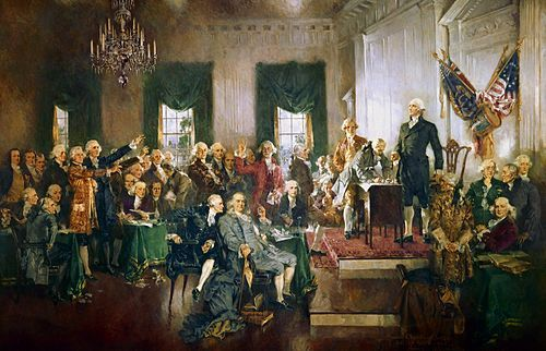 The US Battle for Independence | ... Scene at the Signing of the Constitution of the United States