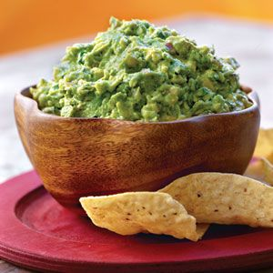 Guacamole: BEST ever. SO many compliments. Only use 1 tablespoon of red onion and chop it TINY.