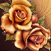 Moonbeams Fall Fantasy Roses 3D Models 2D moonbeam1212