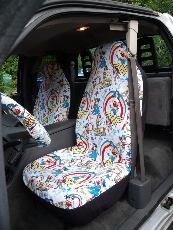 These car seat covers are made with 100% Cotton fabric and are machine washable. Stretches to fit car, van and truck seats easily and snug.