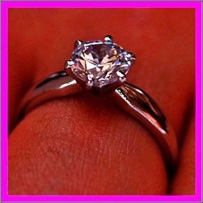 D/VVS1 Engagement Ring 2.5 Ct Round Cut 14K White Gold Bridal Jewelry +Free Ship by JewelryHub on Opensky