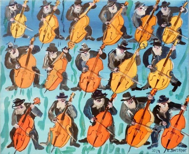 "ArtGalery ° PERSONALART.PL tytuł: ""16 Kontrabasistów"" autor: Edward Dwurnik http://personalart.pl/Edward-Dwurnik"