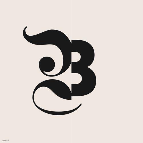 B #typography