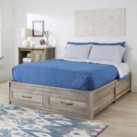 Home Platform Bed With Storage Queen Platform Bed Farmhouse