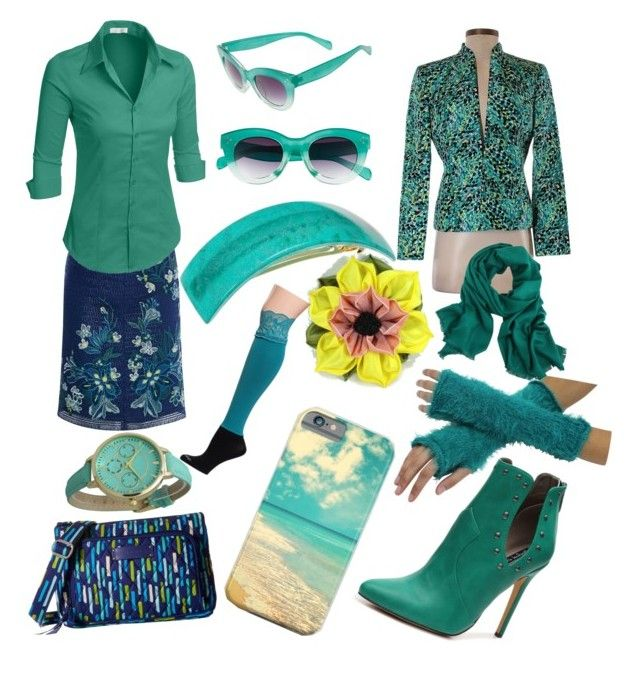 """""""Her Covering"""" by her-covering on Polyvore featuring Karen Millen, Vera Bradley, LE3NO, Kasper, Michael Antonio, A.J. Morgan, France Luxe, Geneva and Bootights"""