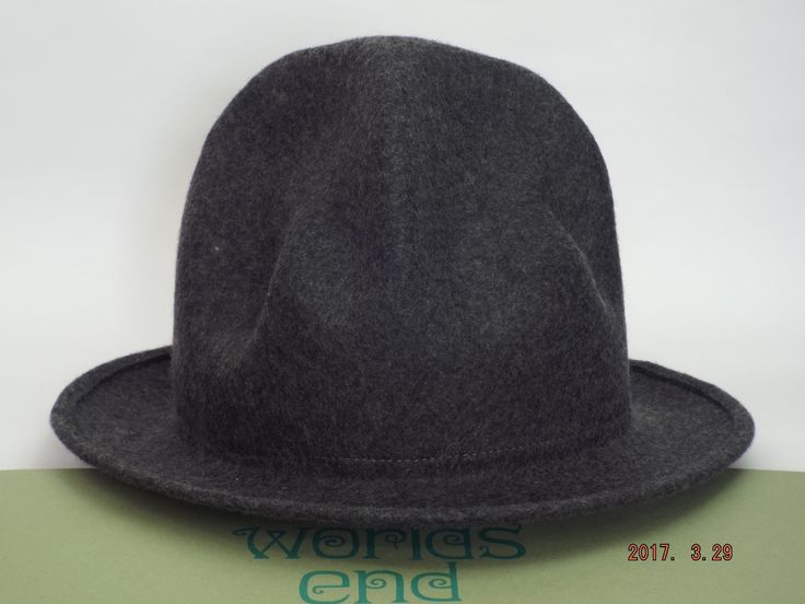 Vivienne Westwood Felt Mountain hat CHARCOAL GRAY