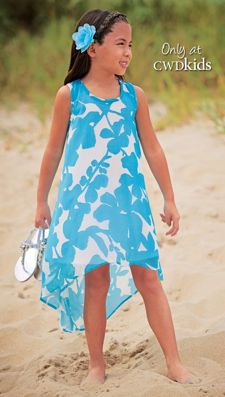 From CWDkids: Floral Chiffon High-Low Dress