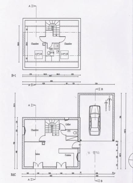 Permis De Construire Maison. Surlvation Duune Maison Plan Du With
