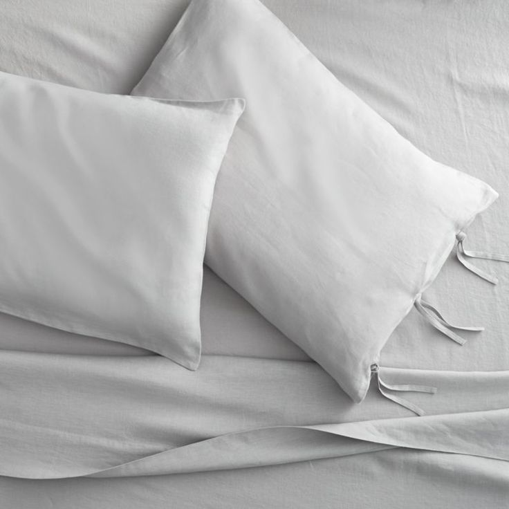 linen shale king sheet set | CB2