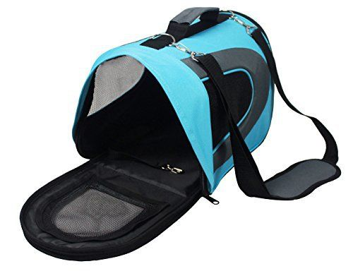 [Extra 30% OFF for 12 Days of Deals] Soft-Sided Pet Travel Carrier (Airline Approved) for Cats, Small Dogs, Puppies and Other Pets by Pet Magasin (Small, Blue) - http://www.thepuppy.org/extra-30-off-for-12-days-of-deals-soft-sided-pet-travel-carrier-airline-approved-for-cats-small-dogs-puppies-and-other-pets-by-pet-magasin-small-blue/