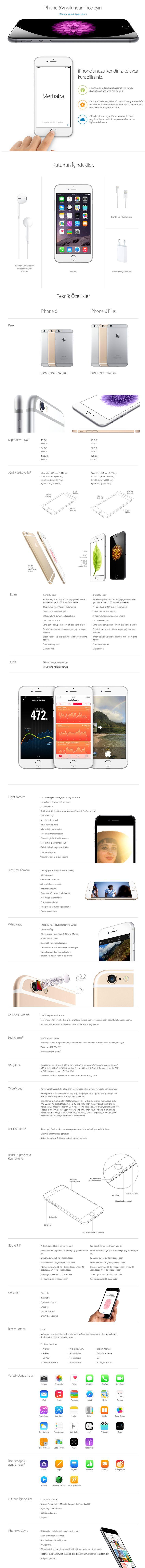 Apple iPhone 6 16 GB Space Gray ( Apple Türkiye Garantilidir ) :: Zinde Market