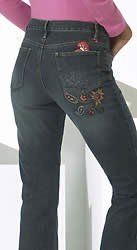 This is the quintessential Amanda jean that America has come to love ( we have sold over 22 million!) but in a new premier fabric that allows you to move with comfort and ease and stretches with you whatever the activity! an easy 5 pocket jean with a tapered leg that sits slightly below your waist.