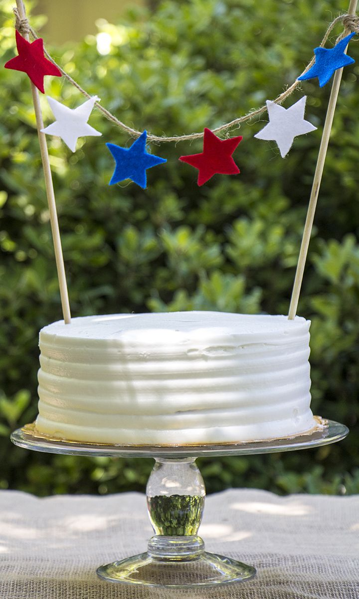 Top off your 4th of July party cake with our festive star cake topper!