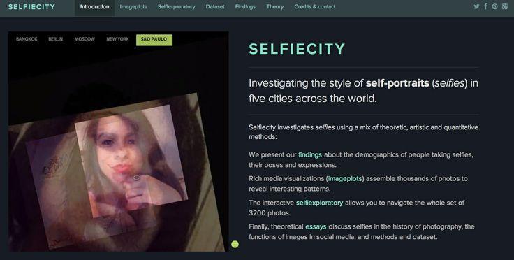 selfiecity.net web site (top part)