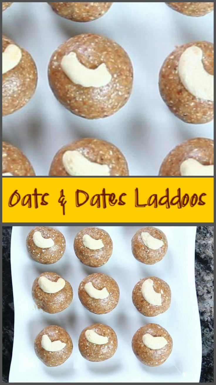 A healthy dessert, oats & dates come together for something that is guiltfree! #oats, #dates, #peanuts, #vegetarian, #dessert, #quick, #healthy, #lowfat