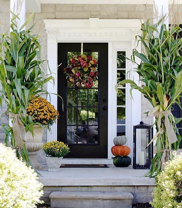 30 Gorgeous Farmhouse Front Porch Design Ideas Freshouz Com: 1000+ Ideas About Corn Stalks On Pinterest