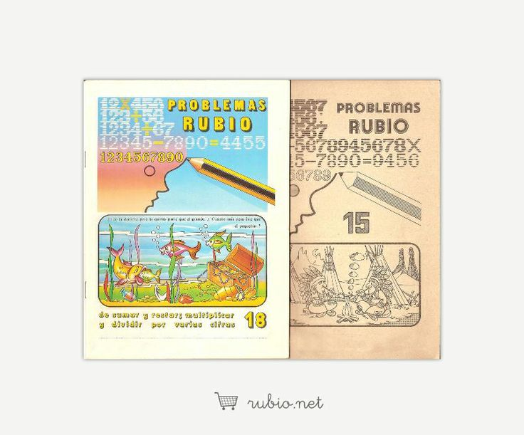 Cuadernos Rubio antiguos de operaciones y problemas de 1978.
