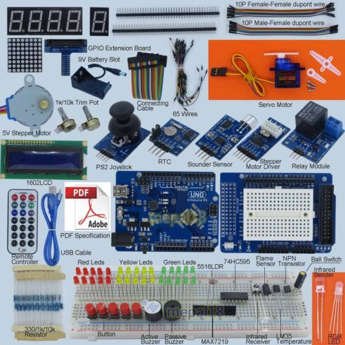 New-Ultimate-UNO-R3-Starter-Kit-for-Arduino-1602-LCD-Servo-Motor-LED-Relay-RTC