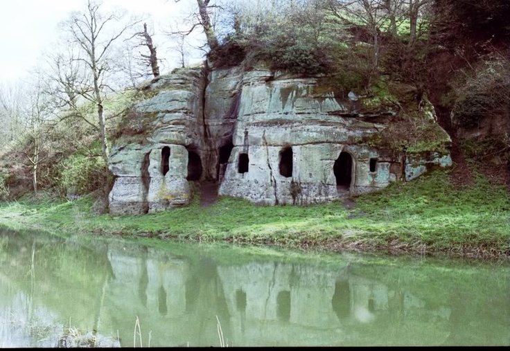 Anchor church cave, Ingleby, Leicestershire is a hermit's dwellings carved out of solid rock. It lies next to the river Trent in a quite isolated location.The date of the cave is disputed but the first mention of it in local records comes in 1648.
