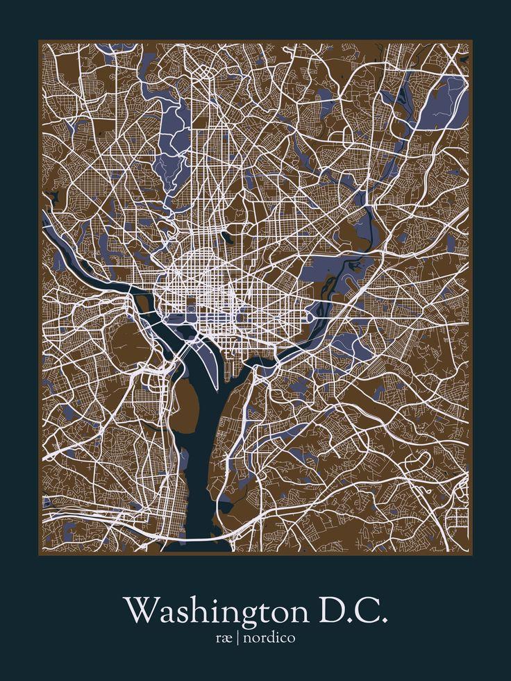 Washington DC USA Map Print 98 best
