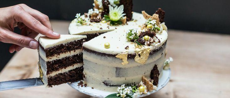 Chocolate Celebration Cake Recipe with Tahini and Honey