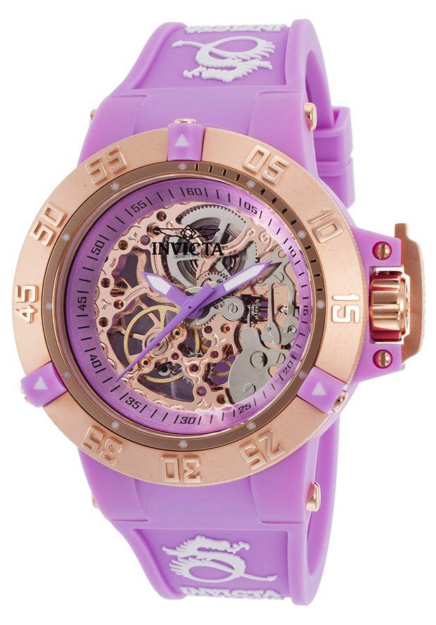 Invicta Purple SkeletonWatch for Women http://edivewatches.com/product/invicta-purple-watch-skeleton/