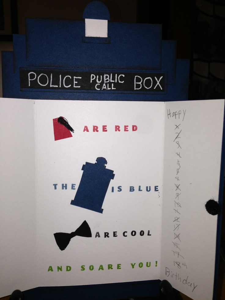 22 best DrWho cards images – Doctor Who Birthday Card