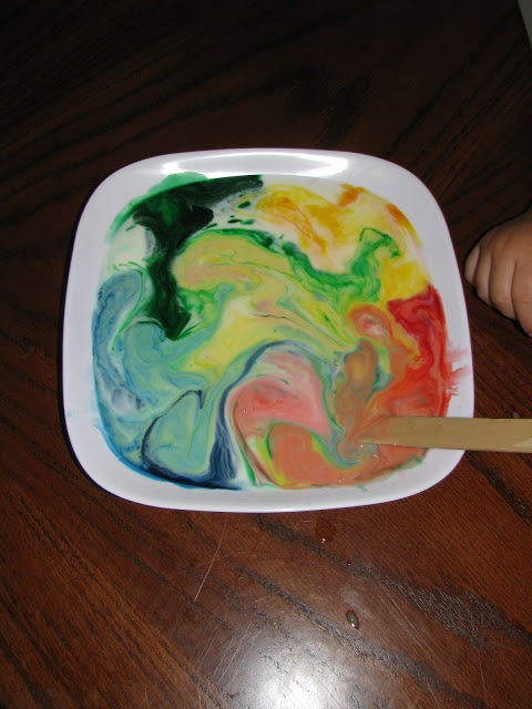Play Create Explore: Toddler Science: Milk Rainbows