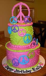 Peace Sign Cake for me!