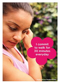I commit to walk for 30 minutes everyday @BupaAustralia #health #pledge #walk #getfit #exercise